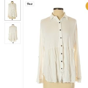 HIgh low collared shirt blouse